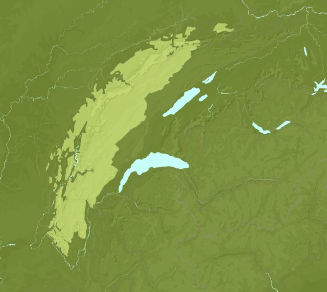 Carte Meteo montagne - Jura