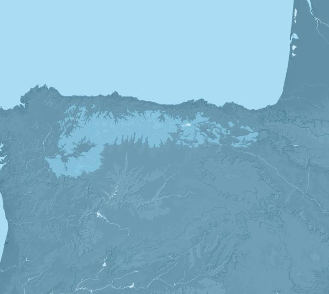 Carte Meteo montagne - Cordillère Cantabrique