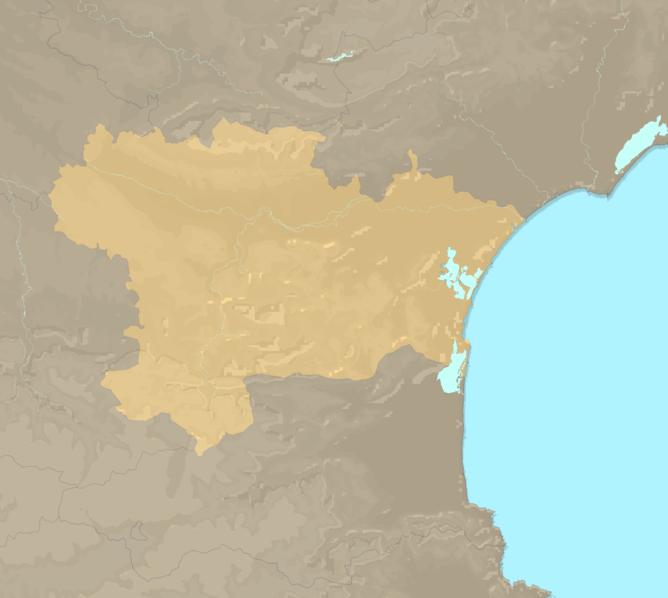 Carte Meteo plage - Aude