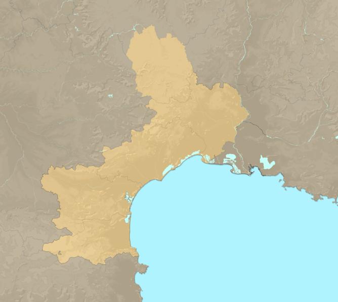 Carte Meteo plage - Languedoc-Roussillon