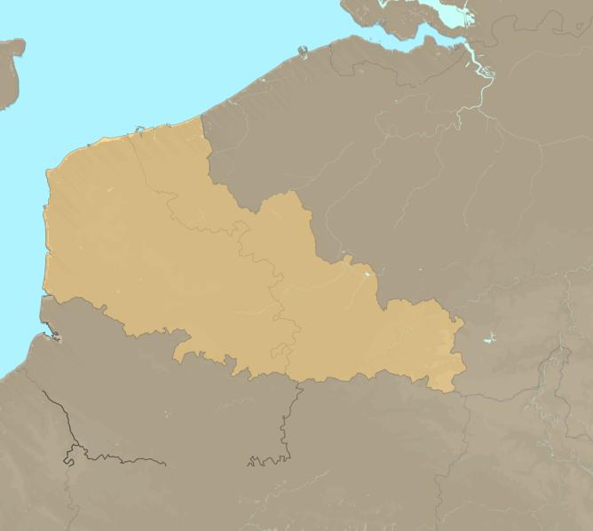 Carte Meteo plage - Nord-Pas-de-Calais