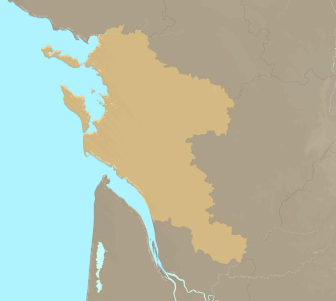 Carte Meteo plage - Charente-Maritime