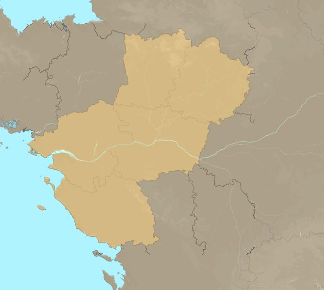 Carte Meteo plage - Pays de la Loire