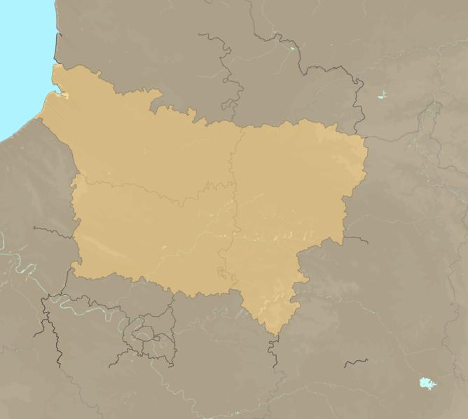 Carte Meteo plage - Picardie