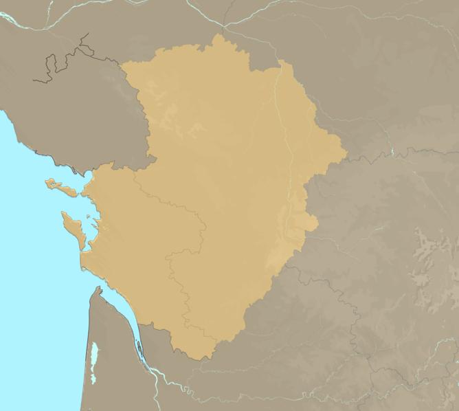Carte Meteo plage - Poitou-Charentes