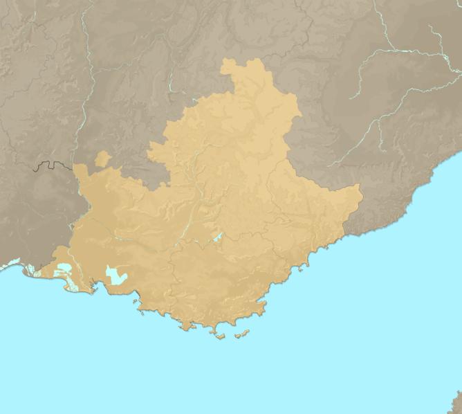 Carte Meteo plage - Provence-Alpes-Côte-d'Azur (PACA)