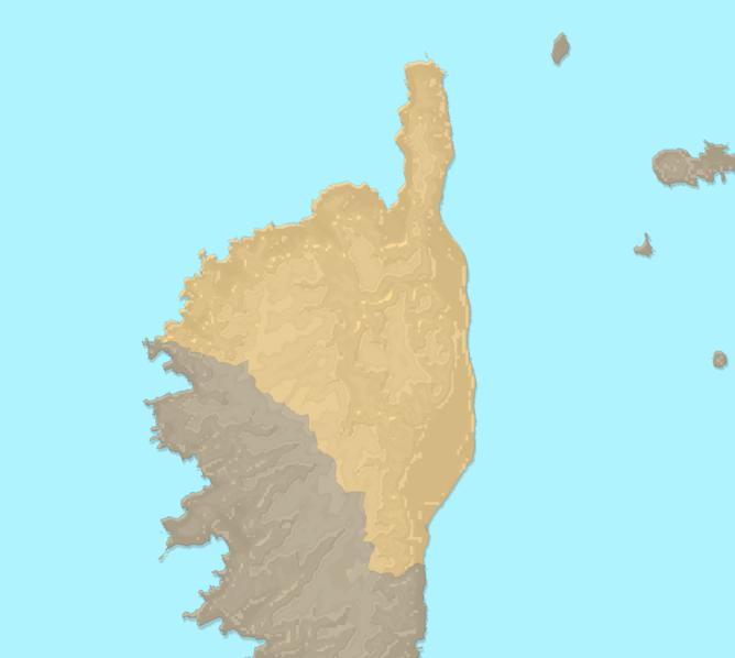 Carte Meteo plage - Haute-Corse