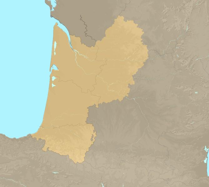 Carte Meteo plage - Aquitaine
