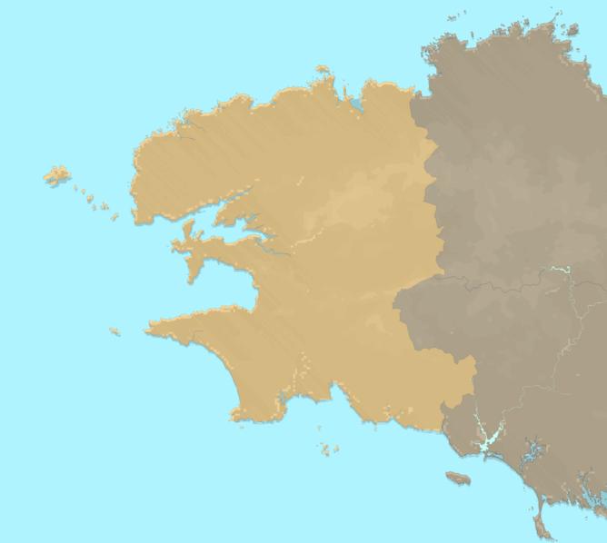 Carte Meteo plage - Finistère