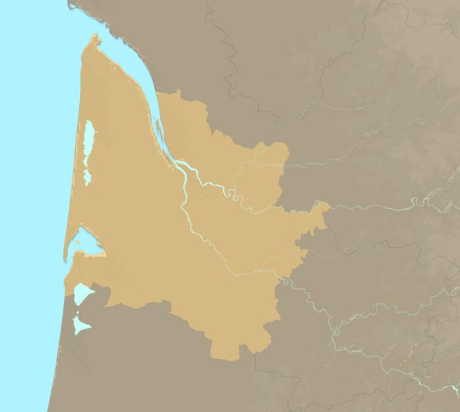 Carte Meteo plage - Gironde