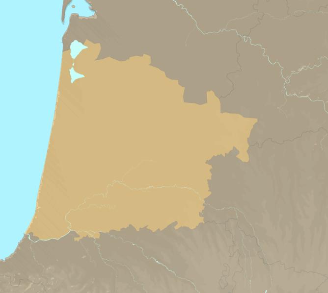 Carte Meteo plage - Landes