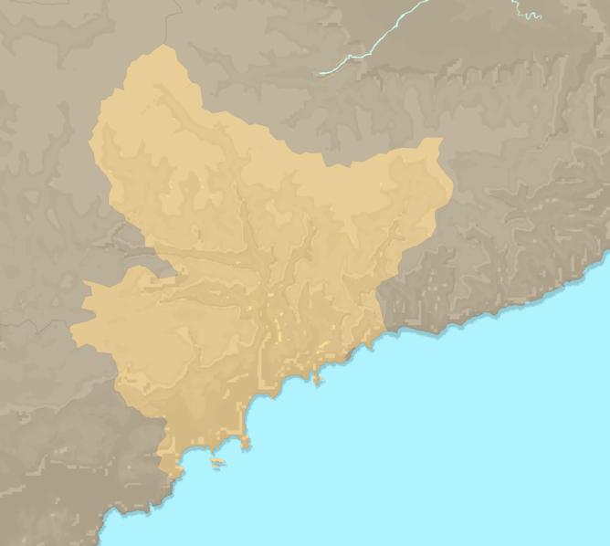 Carte Meteo plage - Alpes-Maritimes