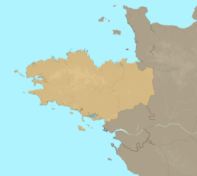 Carte Meteo plage - Bretagne
