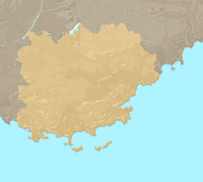 Carte Meteo plage - Var