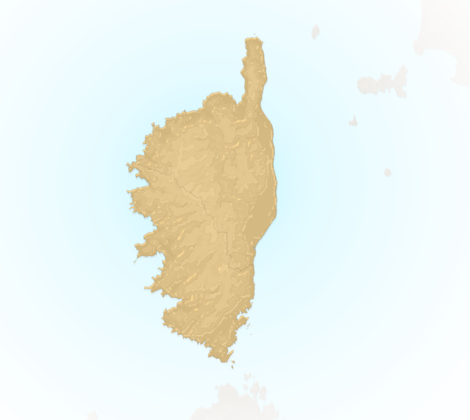 Carte Meteo plage - Corse