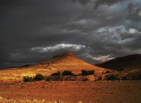 Ciel d'orage sur Matmata 2