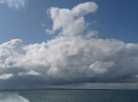 Nuages au-dessus de l'Irlande