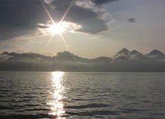Ciel Anchorage Lac en alaska