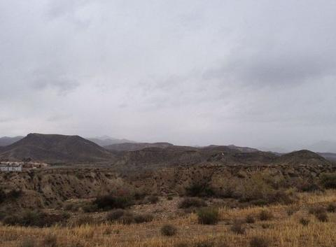 Automne sur desert de Tabernas Espagne