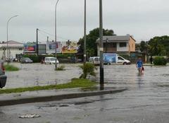 Orage Cayenne 97300 Cayenne et d'autres villes de Guyane inondées