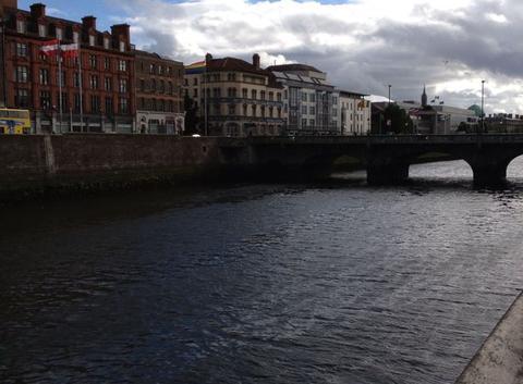 Temps maussade a Dublin depuis hier