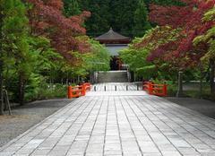 Japon_un Temple_Nécropole Okunoin_Mont Koya_au sud d'Osaka