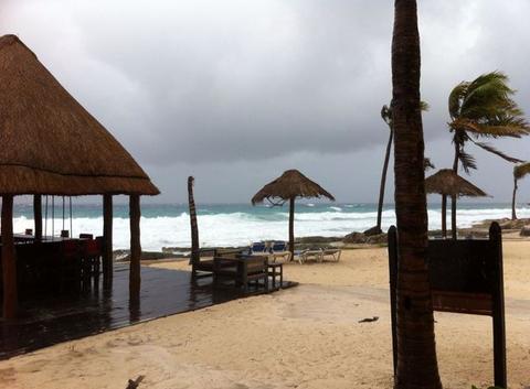 Tempête tropicale à Puerto Aventura