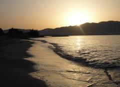 Mer Zakinthos Lever de soleil sur le sud du peloponese