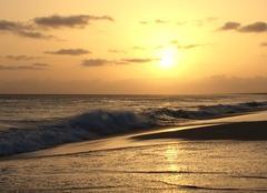 Mer Sal-Rei Coucher de soleil au cap vert