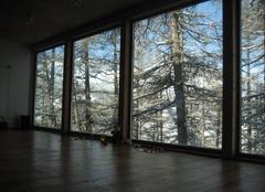Paysage enneig� et vue panoramique