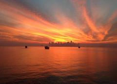 Ciel Doha Coucher de soleil