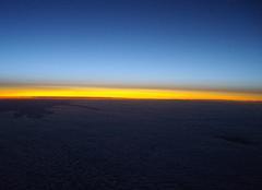 Ciel Ulan Bator Lever de soleil au dessus du désert de Gobi