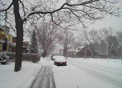Detroit Neige aux  USA / snowstorm Maximus