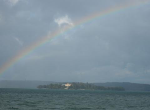 Arc en ciel sur l'ile Mainau
