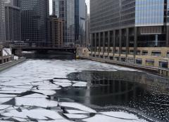 Froid Chicago La rivière