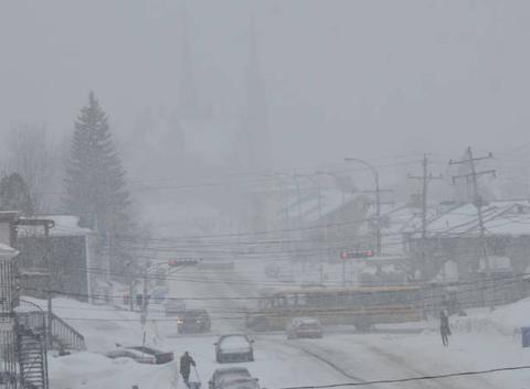 Poudrerie et neige