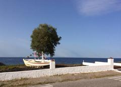 Mer Santorin Maman les petits bateaux