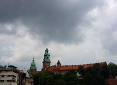 Ciel Cracovie 27052014 Coups de tonnerre sur le château de Wawel