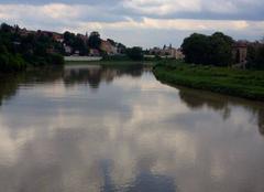 Ciel Cracovie 27052014 C'est couvert au dessus de la Vistule