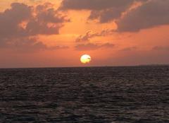 Mer Nassau Coucher de soleil aux Bahamas