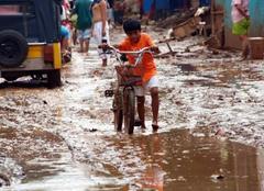 Tempête Manille Lendemain de typhon à manille...
