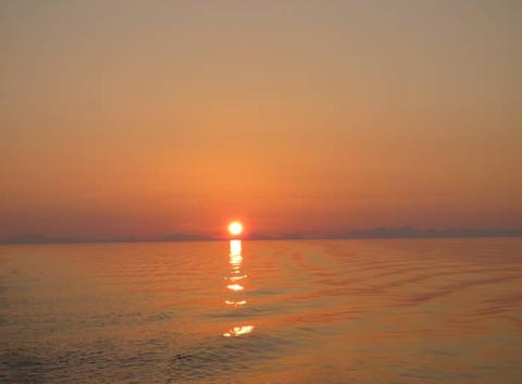 Soleil de minuit en direction de Bodo - Norvège 00h35