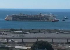 Gênes 16100 Arrivé du concordia port de gênes