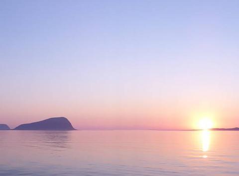 Soleil de minuit en norvege