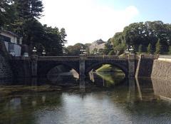 Ciel Tokyo 25102014 entrée du palais impérial, tokyo by niko75- fr
