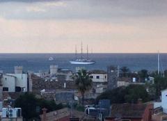 Le voilier 4 m�ts star clipper sorti en baie de palma de majorque
