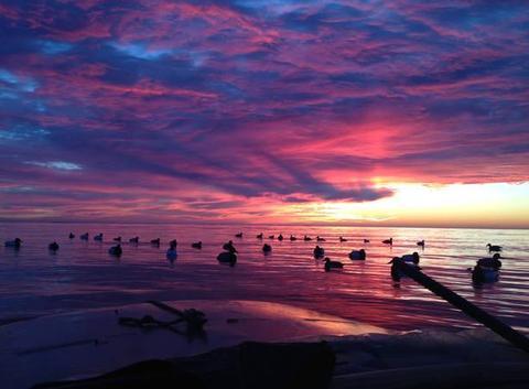 Levee de Soleil sur Chesapeake Bay