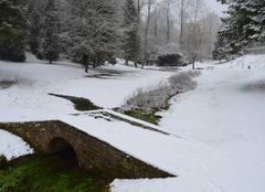 Neige à la source de la Seine