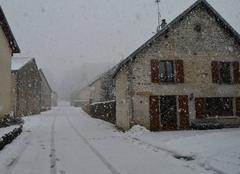 Neige ce lundi  à 09h30