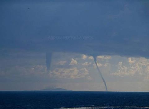 Waterspouts offshore